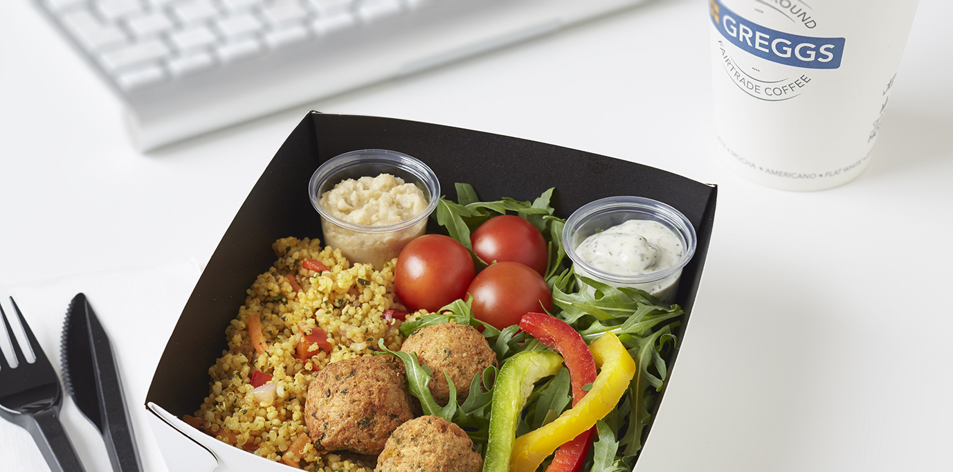X large falafel and hummus salad greggs kingston